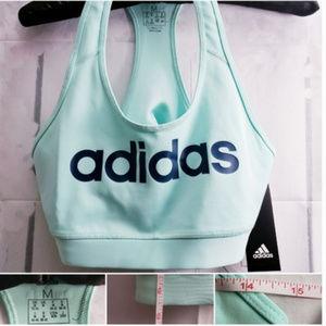 Adidas Green Blue Gym Exercise Sports Bra M NWT